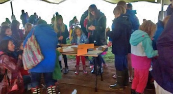Family Puppet                                                 Making at the Green Man                                                 Festival